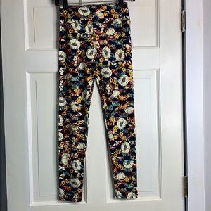 LuLaRoe multi-colored leggings OS NWOT